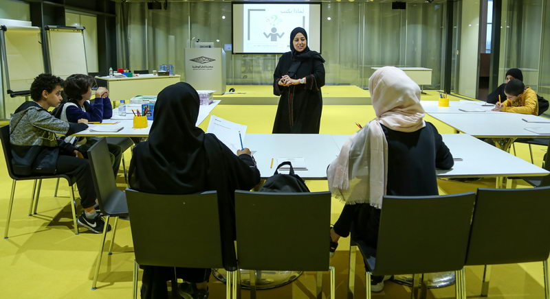 Youth improve their writing [qatarisbooming.com].jpg
